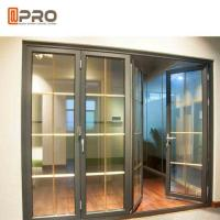 Buy cheap Horizontal Aluminum Folding Doors For Kitchen With Double Tempered Glass product