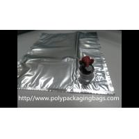 Buy cheap Plastic Flexible Packaging Reusable Bag In Box With Spout , Silver from wholesalers