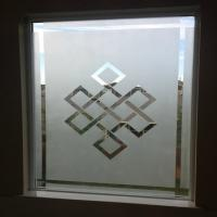China Opaque Frosted Glass Acid Etched Glass Pattern Customization For Windows / Doors on sale