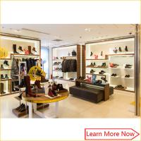 Buy cheap Retail Luxury Wood Flooring Handbag Store Display Rack with customized size product