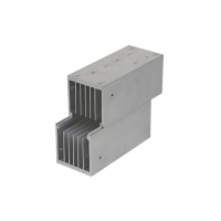 Buy cheap Longlife Anodized Aluminium Extrusion Heat Sink Profiles Black Color 6063 Alloy product