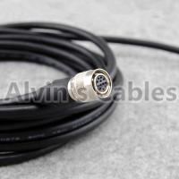 Buy cheap Power I/O Cat6 M12 Cable Assembly HRS 12 Pin Hirose Female Open Twisted For Basler Camera GigE 3m product