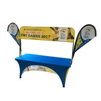 Buy cheap Tradeshow Advertising Spandex Elastic Polyester table cloths with teardrop flag product
