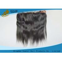 Buy cheap Peruvian Hair Straight Top Frontal  Human Hair Top Closures 13*4 Inch from wholesalers