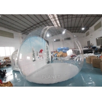 Buy cheap 4m Inflatable Snow Globe Bubble Tent With Passage Way Background product