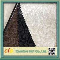 Buy cheap PVC Vinyl Embossing Synthetic Leather Upholstery Fabric for Furniture / Bag / Garment product