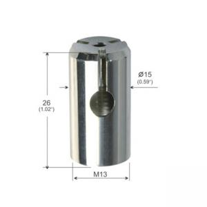 Buy cheap Brass Part Three Branch Outlet 15mm Dia Hanging Attachment Hardware YW86269 product