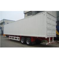 Two / Tri axle flatbed / gooseneck Box Van Truck Trailer with 40T - 60T Loading