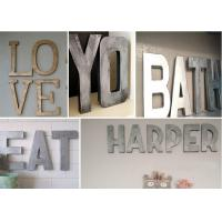 Buy cheap Vintage Wall Decorative Metal Letters , Bronze / Brass / Titanize Color Custom from wholesalers