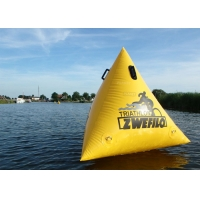 Buy cheap Triathlon Race 1.5m Yellow Custom Logo Floating Triangle ShapeInflatable Marker Buoy For Water Event product