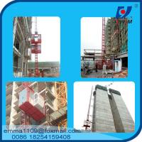 Buy cheap 4tons VFD / FC control Rack and Pinion Building Hoist With Mast Sections product