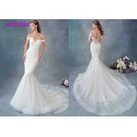 Buy cheap Embroidered Lace / Tulle / English Net Mermaid Style Wedding Dress Detachable Cap Sleeve product
