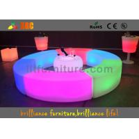 Buy cheap PE LED Bar Stool / Bench Curved Durable For Outdoor / Indoor product