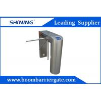 China NO / NC 304 Stainless Steel Tripod Turnstile Gate For Indoor Office Building on sale