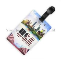 Buy cheap 10.5*6.5cm, EN71-3, Full Color Printed US Flag Sydney Opera Statue of Liberty PVC Rubber Blank Luggage Tag JGLT0016 product