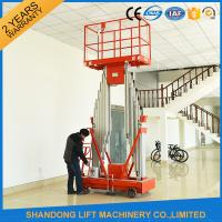 Buy cheap 200kg Capacity 12m Height Hydraulic Aluminium Ladder Aerial Work Platform Lift With CE product