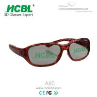 Sexy Eco - friendly Leopard PC Frame Circular Polarized 3D Glasses Red Blue