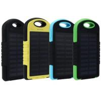 Buy cheap Solar Power Bank 5000mah Extreme Mobile Phone Battery Charger Pack Dual USB LED with Climbing Hook product