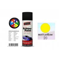Buy cheap Higher Adhesive Removable Rubber Spray Paint , Matt Yellow Color Auto Spray Paint product