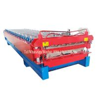 Roofing Metal Steel Flat Sheet Double Layer Roll Forming Machine With Two Designs
