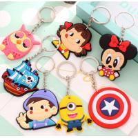 Buy cheap Custom Creative Soft PVC Key Ring Cartoon Buckle Freestyle Injection With Color product