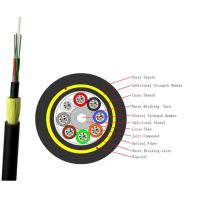 Buy cheap 96 Core ADSS Optical Fiber Cable Outdoor Self Supporting Aerial Waterproof Jacket product