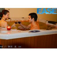 Buy cheap Luxury massage outdoor spa hydro hot tub with 5'' color-changing LED lighting product