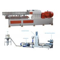 Buy cheap PP Caco3 Double Screw Extruder Granulation Machine Water Ring Cutting System product