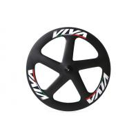 China 700c * 23mm Track Bike Wheel Set , 5 Spoke Track Carbon Disc Wheel Fixed Gear on sale