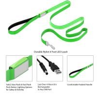 Buy cheap Durable Nylon LED Dog Leash 6 Foot Long Easily Rechargeable With Padded Handle Dog Lead product