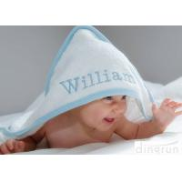 Quality Durable White Hooded Baby Towels Embroidered For Family 350gsm for sale