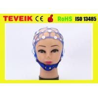 Buy cheap Integrated 64 Lead Cylinder Electrode EEG Hat Black , M 54-58 Cm from wholesalers