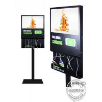 China Floor Standing Mobile Phone Charging Station Advertising Display For Airport / Restaurant / Bar on sale