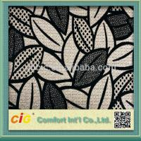 Buy cheap High End Flocking Sofa Upholstery Fabric , Leaf Design Chair Fabrics product