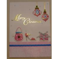 Buy cheap Paper gift card with pink color printing and writing product