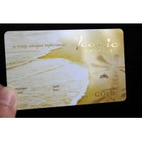 China 2018 Hot Sell Laser Gold PVC Business Card on sale