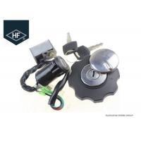 Buy cheap Motorcycle 4 Wire Ignition Switch Lock Fuel Gas Tank Cap Cover Steering Lock Set For Honda CG125 product