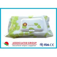 Buy cheap Hypoallergenic Flushable Pre-Moistened Cleansing Cloths Plant-based Material product