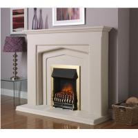 Quality natural stone white marble fireplace for sale