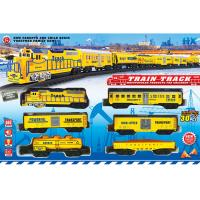 Buy cheap ABS Plastic Classic Battery Operated Train Track Set W / Lights Sound product