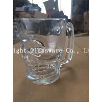 Buy cheap luxury engraving clear drinking glass with handle for wine product