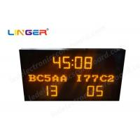 Buy cheap Multi Functional Led Electronic Scoreboard Football With Iron / Steel Frame product