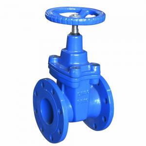 China Cast Iron Blue Pneumatic Gate Valve Handwheel DN50 - DN600 For Pneumatic Actuator on sale