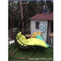 Buy cheap Encase Rattan Outdoor Patio Swing Chair , Swing Hanging Chair With Cushion product