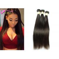 Raw Peruvian Virgin Hair Extensions , Peruvian Straight Hair Bundles With Customized Size