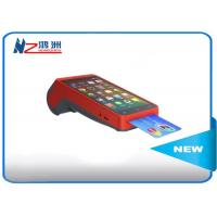 Buy cheap All In One Smart Handheld POS Terminal / Point Of Sale For Android , Red product