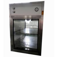 Buy cheap Electronic Interlocking Air Shower Pass Box / Pharmaceutical Cleanroom HEPA Filtered Pass Through product