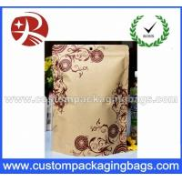 China Foil Lined Kraft Paper Bag / Stand Up Kraft Paper Pouches / kraft Paper Food Packaging on sale