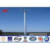 Buy cheap Steel 100ft Mono Pole Mobile Cell Phone Tower / Tapered / Flanged Steel Poles product