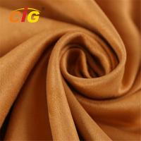 Buy cheap Abrasion Upholstery 100% Polyester Microfiber  Faux Suede Fabric 80-200GSM product